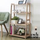 寬版-日式木質層架斜面架 收納架 置物架 層架 書櫃 書架 電器架