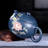 手工紫砂壺名家制原礦綠泥刻繪西施壺茶壺茶具套裝 熊貓本