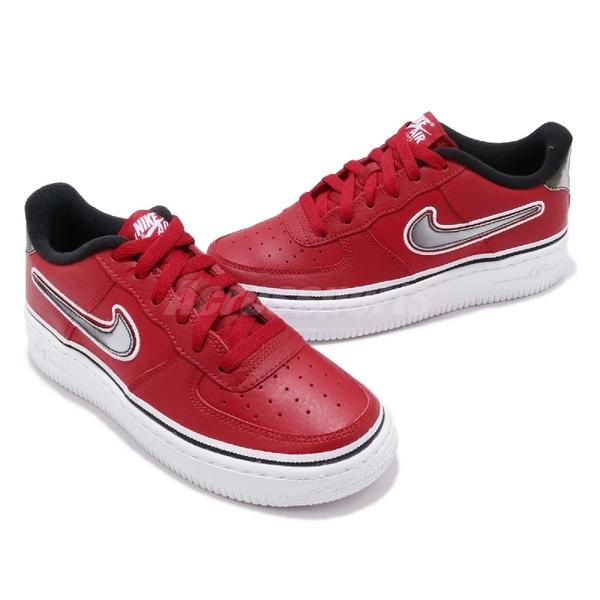 【六折特賣】Nike 休閒鞋 Air Force 1 07 LV8 Sport GS 紅 黑 NBA 運動鞋 女鞋 大童鞋【ACS】 AR0734-600
