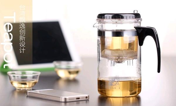 台灣嚴選飄逸杯 1000ml 泡茶壺 沖茶器 咖啡沖泡器 GL-888