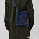 日系新款側背斜背包包韓版百搭ins托特包男女學生帆布包簡約書包 黛尼時尚精品