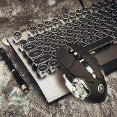 蒸汽朋克復古機械鍵盤青軸黑軸電腦筆電有線遊戲電競【步行者戶外生活館】