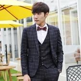 西裝套裝含西裝外套+西裝褲(三件套)-韓版時尚合身設計男西服2色73hc1【時尚巴黎】