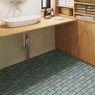 藍灰磚紋 地板卷材  客廳 廚房 SE-...