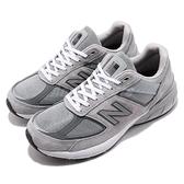 New Balance 慢跑鞋 990v5 NB 灰 白 元祖灰 麂皮鞋面 美國製 運動鞋 男鞋【ACS】 M990GL52E