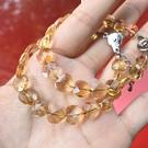『晶鑽水晶』天然黃水晶手鍊 約8~9.5mm 心型 愛心 鑽石切面 超透亮 強力招財 情人節 母親節 禮物
