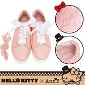 🎀附緞帶🎀 HELLO KITTY X Ann'S達利2way蝴蝶結真皮休閒鞋-粉