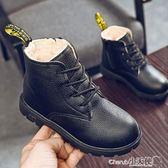 短靴 童鞋女童皮鞋新款秋季小女孩鞋子秋冬加絨軟底冬季兒童公主鞋【小天使】