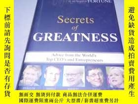 二手書博民逛書店英文精裝原版罕見Secrets of Greatness: Ad