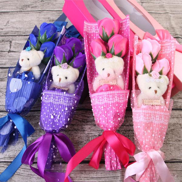 現貨 ! 情人節禮物聖誕禮物 玫瑰皂花熊愛妳禮盒 交換禮物