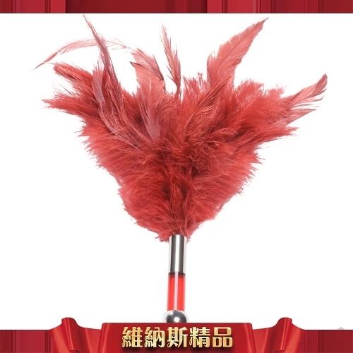 總代理公司貨保固兩年 瑞典LELO-TANTRA FEATHER TEASER 羽毛挑逗棒-紅