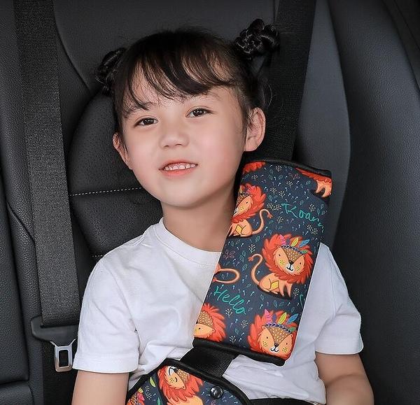 汽車護肩 兒童安全帶調節固定器防勒脖汽車用座椅專用保險帶護肩【快速出貨好康8折】