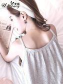 睡衣女夏純棉性感吊帶韓版清新學生甜美可愛家居服睡裙女夏帶胸墊