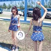 泳裝-分體泳衣女可愛日系新款溫泉款保守學生小清新少女泳裝三件套 Cocoa