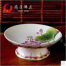 陶瓷彩繪浮雕蓮花供佛水果盤佛教用品供盤供碟貢果盤