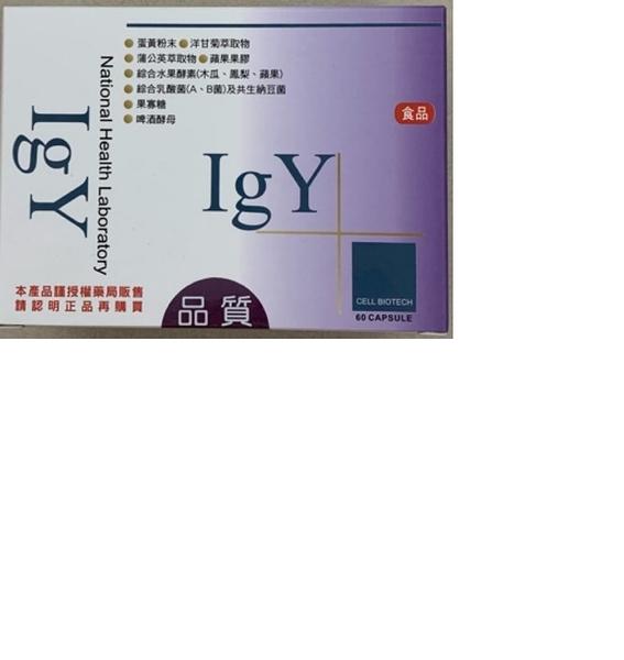 IGY 愛衛康 蛋黃萃取 膠囊 60粒入 元氣健康館