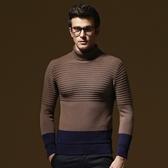 長袖針織衫-復古撞色素面造型男針織毛衣73ik44【時尚巴黎】