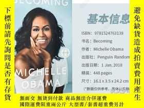 二手書博民逛書店Becoming罕見成器 米歇爾奧巴馬自傳 Michelle O