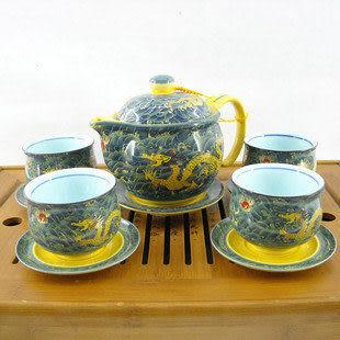 創意家居雙層防燙大茶具 海水龍