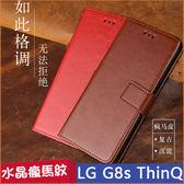 水晶紋 LG G8s ThinQ 手機皮套 磁吸 樂金 LG G8s 保護套 手機殼 g8s 保護殼 防摔 軟殼 翻蓋 瘋馬紋