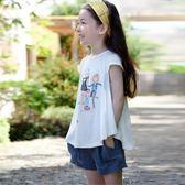 女童白色短褲夏季外穿韓版公主高腰