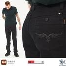 【NST Jeans】銀翼殺手 洗鍊黑牛仔褲 -中腰直筒 398(66677) 台灣製