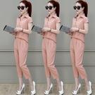 韓版新款時尚洋氣質短袖連身褲套裝Mandyc