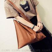 新款韓國大包包簡約休閒PU購物袋子母包時尚韓國單肩大包女潮 都市韓衣