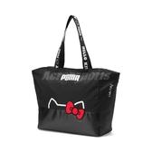 Puma x Hello Kitty Large Shopper 托特包 黑 白 女款 凱蒂貓 聯名 【PUMP306】 07718702