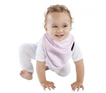 MUM 2 MUM 雙面竹纖維棉機能口水巾圍兜 粉條紋/點點 ZMU363376 好娃娃