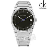 CK / K6K31143 / step 俐落極簡知性日期不鏽鋼手錶 黑色 38mm★加購鋼化玻璃膜 ★