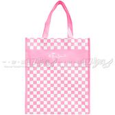 【17go】 ETTUSAIS 艾杜紗 粉色方格購物手提袋