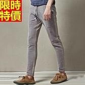 亞麻長褲-時尚拼接舒適男休閒褲68b46[巴黎精品]