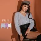 限量現貨◆PUFII-針織上衣 毛毛雙釦...