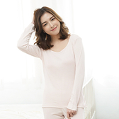 闕蘭絹 絲棉長袖衛生衣-9922(粉)