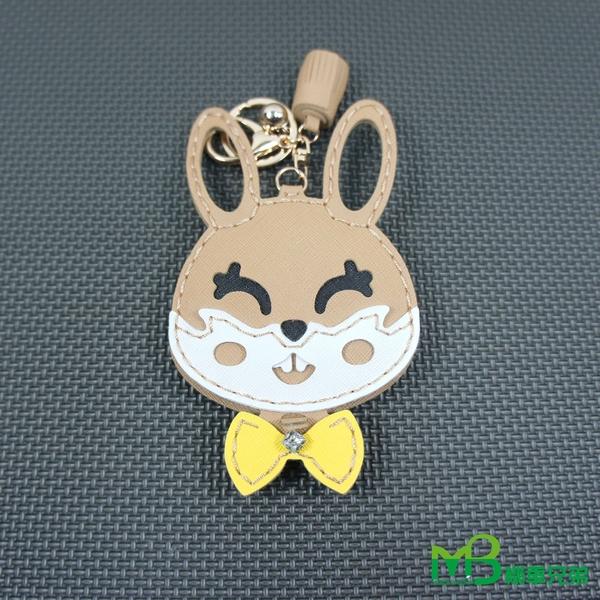 機車兄弟【兔子 手工化妝鏡鑰匙圈】