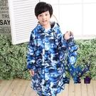 兒童雨衣防護長款全身男女童帶書包位迷彩創意個性【古怪舍】
