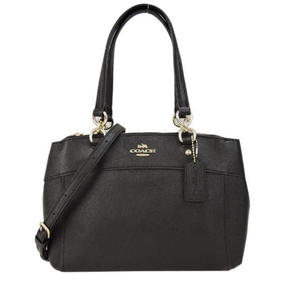 COACH BROOKE 緹花三層兩用包(黑) 女生包包 品牌女包 側背包 手提包 大包 COACH包