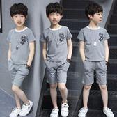 男童套裝3兒童裝4男童夏裝新款5夏天6短袖8小孩9男孩10衣服12歲潮 mc6742『優童屋』