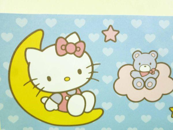 【震撼精品百貨】Hello Kitty 凱蒂貓~卡片-月亮藍