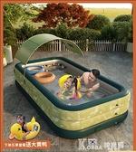 兒童自動充氣游泳池家用小孩寶寶游泳桶超大號室內外大型遮陽水池 618狂歡購