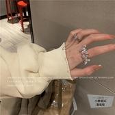 蝴蝶戒指立體女開口可調節潮時尚個性指環【小檸檬3C】