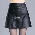 皮裙褲 A字裙半身裙PU皮裙女新款高腰小皮裙皮短裙包臀一步裙褲