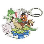 《Small Planet》迪士尼歡樂人物日本製壓克力鑰匙圈(玩具總動員-配角集合)_DP24879