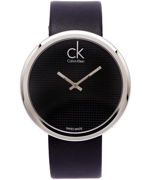 CK手錶 Calvin Klein 大錶徑圓形 女士腕錶 瑞士ck手錶 男錶女錶對錶K0V231C1