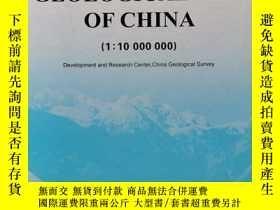 二手書博民逛書店CEOLOGICAL罕見MAP OF CHINA(1;10000000)Y252251 Geological