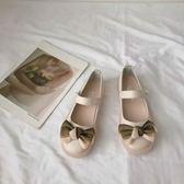 娃娃鞋JK甜美蝴蝶結軟妹單鞋日系圓頭娃娃鞋淺口可愛洛麗塔小皮鞋女學生