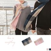 《ZB0465》情侶款~休閒色彩格紋暖度圍巾 OrangeBear