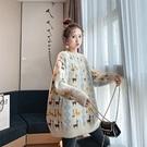 日系時尚慵懶風秋冬保暖打底衫 潮流甜美女生針織衫 韓版毛衣女生長袖 學生加厚上衣女士毛衣