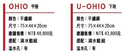 【歐雅系統家具】REGINOX - 荷蘭皇冠水槽 OHIO (平接式) ~請先撥打服務專線確認金額☎